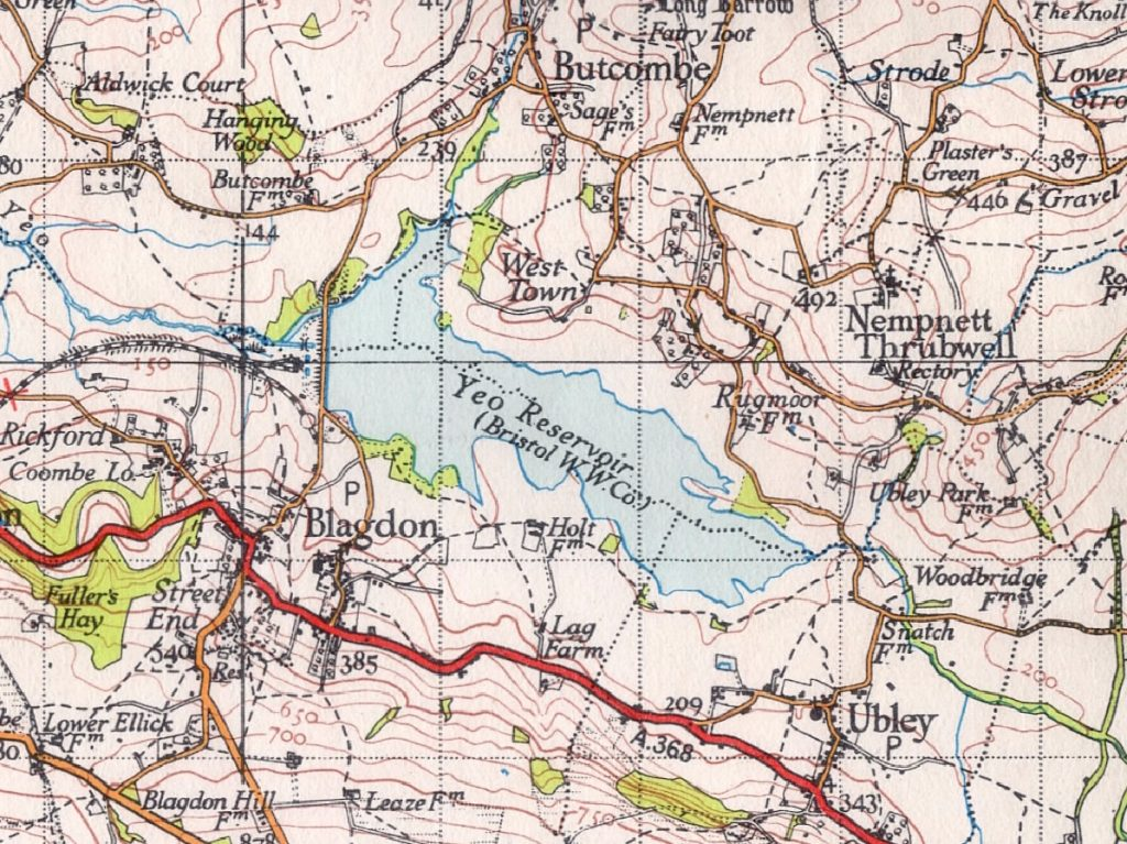 Yeo Reservoir, aka Blagdon Lake, 1946